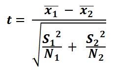 t-test-formula